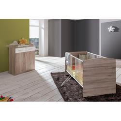 Babymöbel-Set York, (Spar-Set, 2-tlg), Bett + Wickelkommode