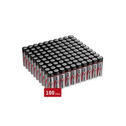 ANSMANN® Batterien AA 100 Stück, Alkaline Micro Batterie, für Lichterkette uvm. Batterie