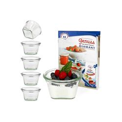 MamboCat Vorratsglas 6er Set Weck Quentin 290 ml mit Rezeptheft