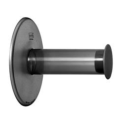 KOZIOL Toilettenpapierhalter Plug N Roll Transparent Grey, mit Saugnapf