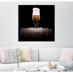 Posterlounge Wandbild, Kaltes Glas helles Bier 40 cm x 40 cm