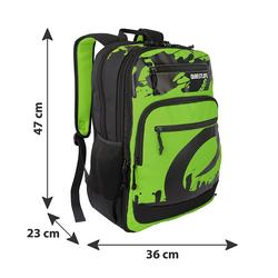BESTLIFE Rucksack MERX grün/schwarz mit Laptopfach bis 15,6 Zoll