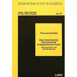 Das französische Gerichtsurteil in linguistischer Sicht als Buch von Thomas Krefeld