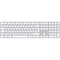Apple Magic Keyboard mit Touch ID und Ziffernblock Bluetooth Englisch Aluminium, Weiß