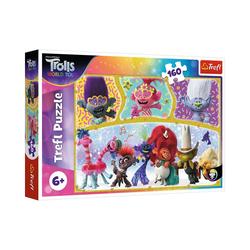 Trefl Puzzle Puzzle The happy world of Trolls, 160 Teile, Puzzleteile