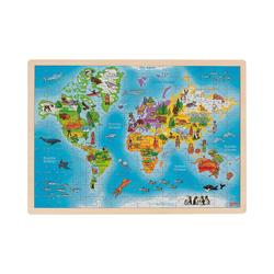 goki Puzzle Einlegepuzzle Welt, Puzzleteile