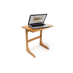 relaxdays Laptoptisch Laptop Beistelltisch Bambus