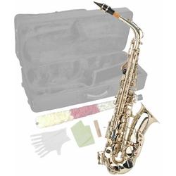Steinbach Saxophon Steinbach Eb Alt-Saxophon in Silber mit hohem FIS