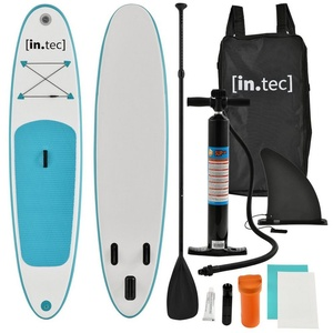 in.tec SUP-Paddel, (7-St), Stand Up Paddle Board 305cm Surfboard SUP Paddelboard Wellenreiter weiß