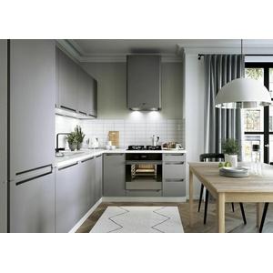 L-Form Küche, Schränke, Küchenzeile erweiterbar Ferro  graue Fronten Neu&Schnell