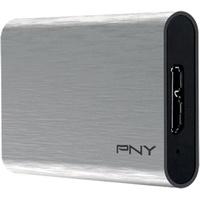 PNY Elite Portable SSD 480 GB USB 3.1 silber