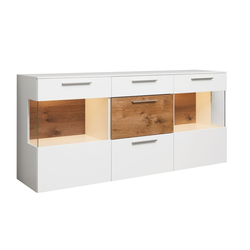 Mondo Sideboard 1004 in seidenmatt weiß