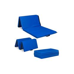 relaxdays Weichbodenmatte Turnmatte 180x80 blau