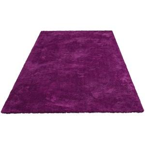 Hochflor-Teppich Magong, my home, rechteckig, Höhe 25 mm, besonders weich durch Microfaser lila 60x90 cm