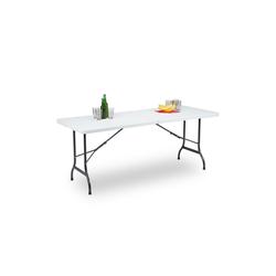 relaxdays Gartentisch Klappbarer Gartentisch 180 x 75 cm