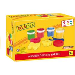 Creathek Fingerfarbe 4er mit Malschwämmchen 63309494