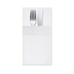 Servietten Bestecktaschen 40 x 40 cm 1/8 -Falz, 3-lagig weiß, 200 Stk.