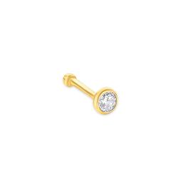 amor amor Nasenpiercing für Damen, Gold 750, Zirkonia