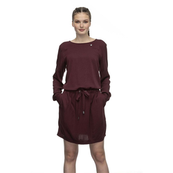 Kleid RAGWEAR - Mascarpone Long Wine Red (WINE RED) Größe: S