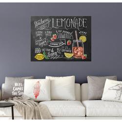 Posterlounge Wandbild, Erdbeerlimonade Rezept (Englisch) 80 cm x 60 cm