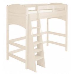 BioKinder - Das gesunde Kinderzimmer Hochbett Noah 90x200 cm, 140 cm Unterbetthöhe mit Roll-Lattenrost