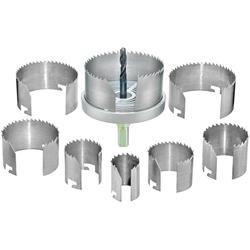 Connex Lochsäge 25-68 mm, Set, für Rohrdurchführungen, Ventilationsinstallationen und Hohllochbohrungen