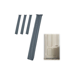 relaxdays Zugluftstopper 4x Zugluftstopper für Türen grau