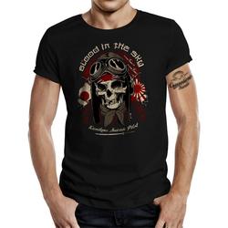 GASOLINE BANDIT® T-Shirt mit provokantem Aufdruck schwarz 4XL