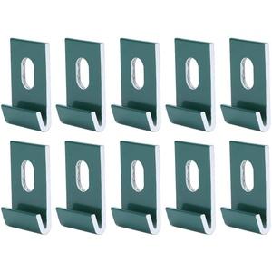 10-teilige Aluminium-Basisclips Hakenbefestigungen Befestigen Sie Aluminium-Gewächshauszubehör(Grün)