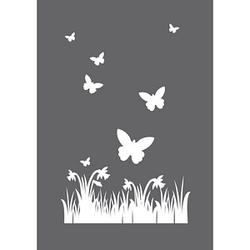Rayher Siebdruckschablone Frühling grau