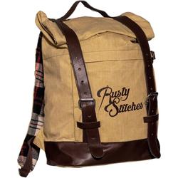 Rusty Stitches Archer Rucksack, braun-beige