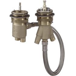 hansgrohe Grundkörper AXOR DN 15, für 2-Loch Wannenrandarmatur mit Thermostat
