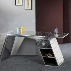 Bürotisch in Silber modern
