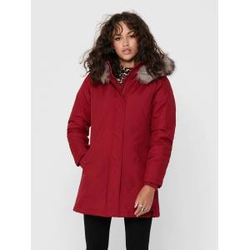 ONLY Einfarbiger Parka Damen Rot Female L