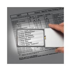 Eschenbach Optik Standlupe Taschenleucht Lupe XL easyPocket silber