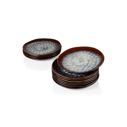 vancasso Tafelservice STARRY (12-tlg), Steinzeug, 12 teilig Flachteller aus Steinzeug rot