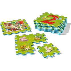 Ravensburger Puzzlematte my first play - Erstes Zählen und Bauernhoftiere bunt Kinder Puzzle-Zubehör Puzzle Gesellschaftsspiele