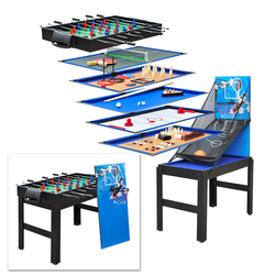 Multigame 14 in1 Kicker Tischfussball Billiard Tischtennis