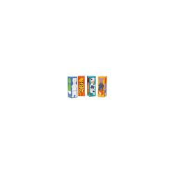 DJECO Würfelpuzzle Stapelklötze - 12 bunte Tier Würfel, Puzzleteile