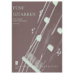 Fünf Gitarren  4 und mehr Gitarren  Partitur und Stimmen - Buch