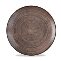 12 x Teller rund 26cm STONECAST RAW Brown