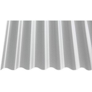 Polycarbonat Wellplatten Profilplatten Sinus 76/18 wabe Struktur klar 2,8 mm (2000 x 1045 x 2,8 mm)