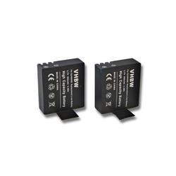 vhbw 2x Akku passend für Apeman A60, A70, A80 Videokamera Camcorder (900mAh, 3,7V, Li-Ion) mit Infochip