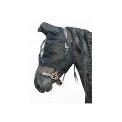 Harrys Horse Fliegennetz Gesichtsmaske Flyshield, schwarz, Größe: XL