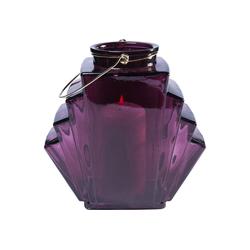 KARE Kerzenständer Windlicht Noble Wire Violett 12cm