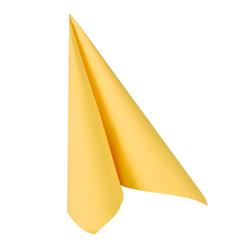 """Papstar """"ROYAL Collection"""" Servietten, 1/4-Falz, 33 cm x 33 cm, Hochwertige Premium-Servietten in Stoffoptik, 1 Karton = 5 Packungen á 50 Stück, gelb"""