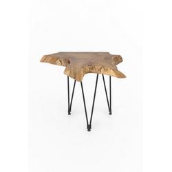 dynamic24 Couchtisch, Teak Couchtisch 65cm Teakholz Holz Tisch Wohnzimmertisch Unikat Wurzel natur