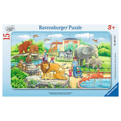 Ravensburger Rahmenpuzzle Ausflug In Den Zoo - Rahmenpuzzle, 15 Puzzleteile bunt
