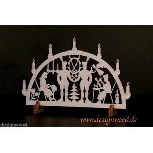 Minischwibbogen Schwibbogen Minilichterbogen 115x75mm verschiedene Motive