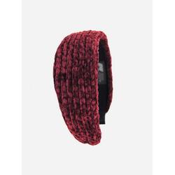 axy Haarreif Cord Haarreif, Vintage Damen Haareifen Haarband rot